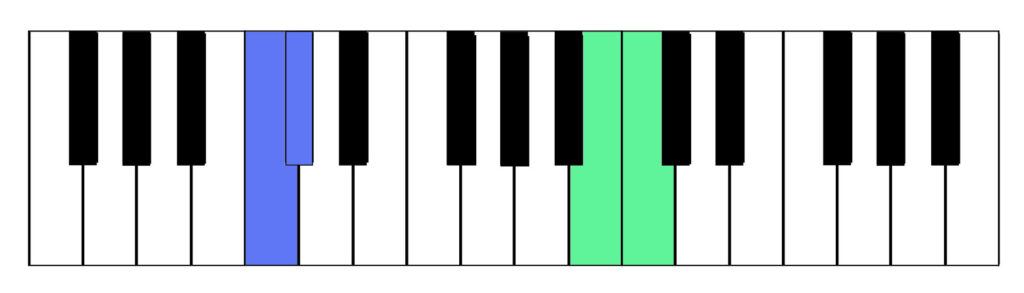 Two examples of semitones